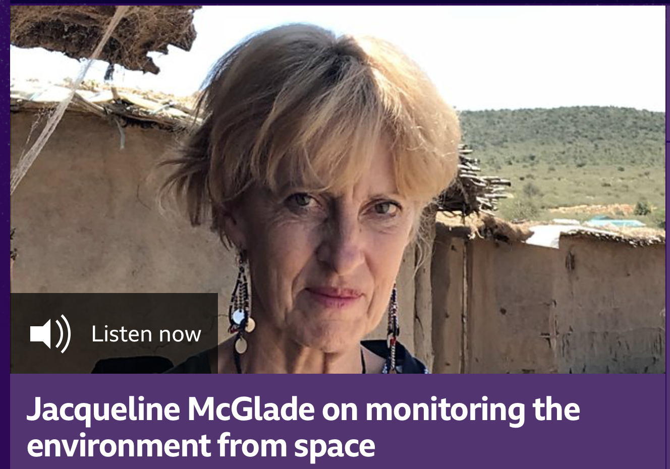 Jacqueline McGlade on monitoring the environment from space
